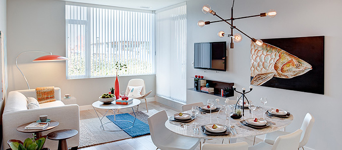 Elegant living spaces at the CentreBlock Burnaby condos.