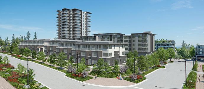 SFU UniverCity CentreBlock townhome rendering.