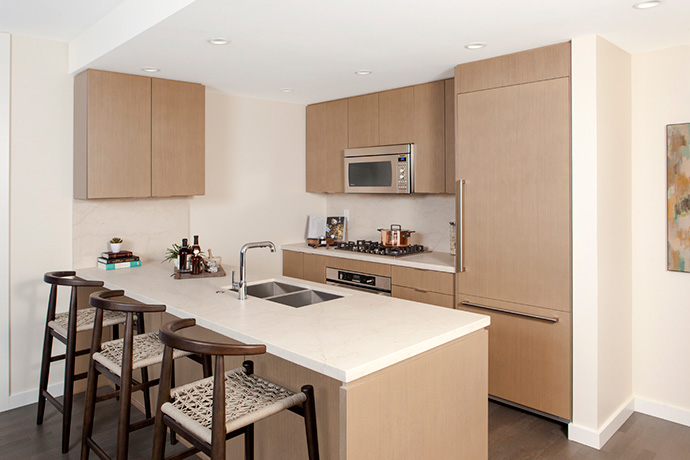Gourmet chef kitchens at North Van CentreView condos.