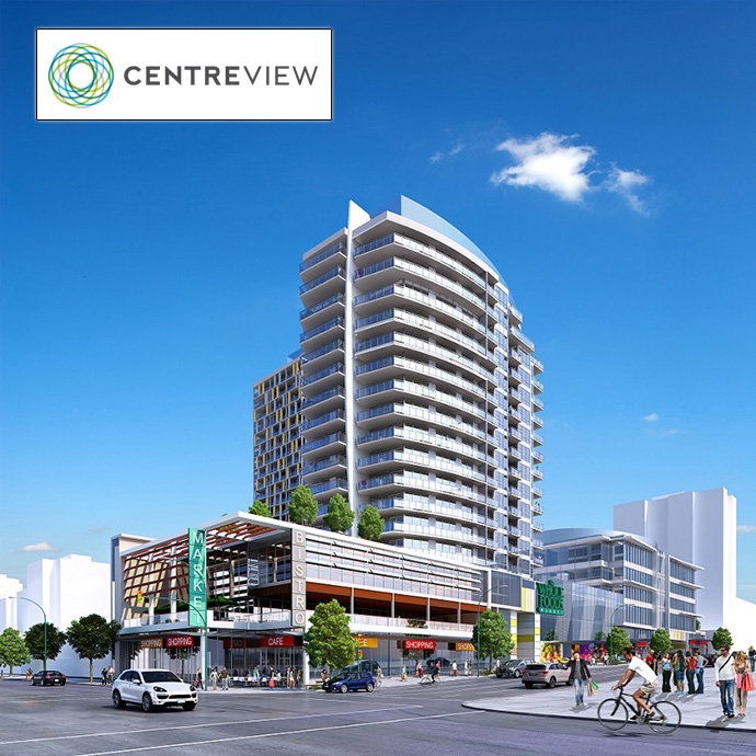 Beautiful rendering at Central Lonsdale North Vancouver CentreView Condos by Onni Developers.