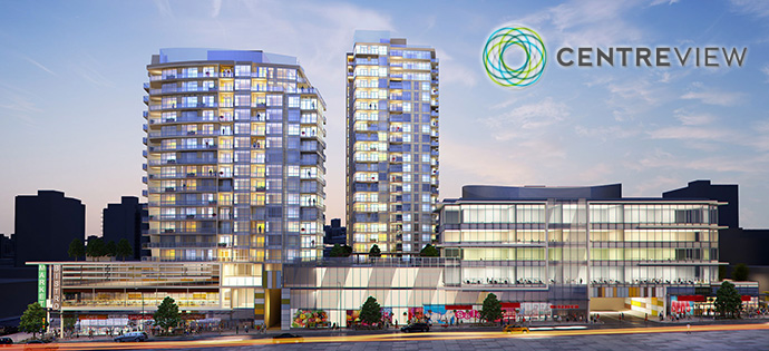Affordable North Vancouver CentreView Condos for sale by Onni Developers.