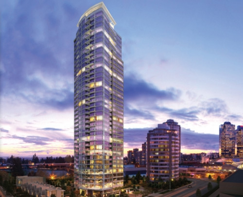 The Metrotown Chancellor Burnaby condominiums.