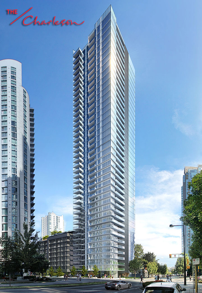 The Charleson by Onni is a new Vancouver Yaletown luxury condo high-rise at Richards & Pacific.