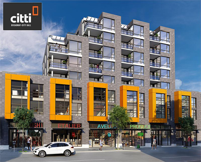 West Side Vancouver Citti Broadway-City Hall Condo development by CM Bay Properties.