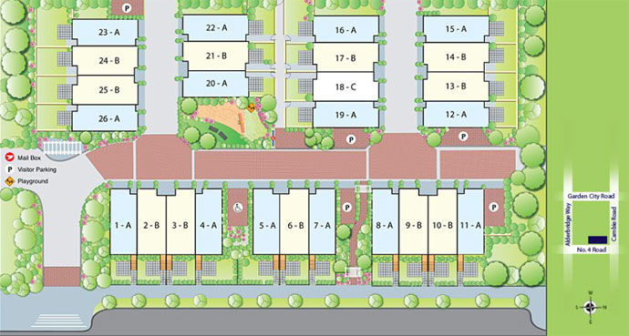 The Clifton Garden site plan here in the Richmond real estate market place.