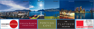 Concord Pacific Vancouver real estate development team is the masterminds behind such condo properties as Mariner, Flagship, Coopers Lookout, Pointe, Greata Ranch and Porteau Cove.