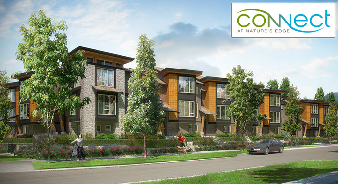 Built Green Platinum North Vancouver Townhomes at CONNECT at Nature's Edge real estate development.