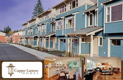 The presale Kenmore Copper Lantern Townhomes are Washington real estate development that is affordable and close to Seattle.