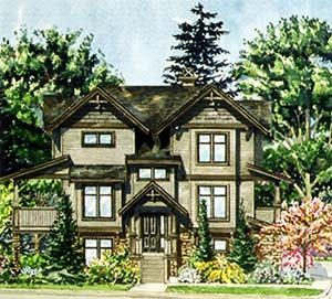 The LEED Certified Copperstone Maple Ridge townhouses for sale feature three and four bedroom floor plans.