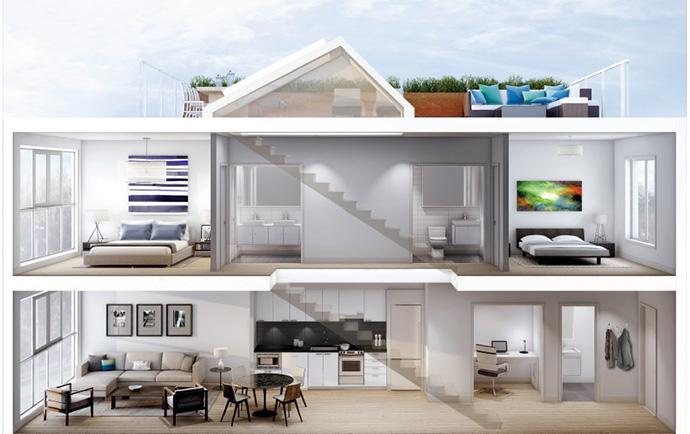 Boffo Cordovan Cityhome floor plan.