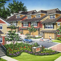 Superior West Coast style architecture and design grace the Baker Road d'Anjou Townhouses for sale in Delta property market.