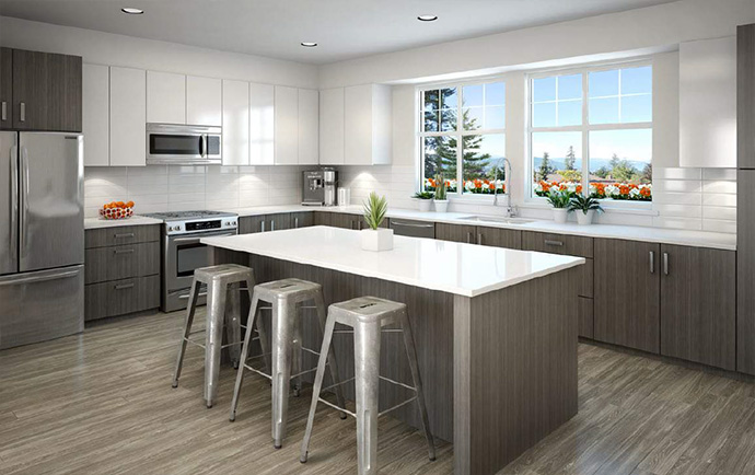 High end kitchen at On The Course by Dawson + Sawyer Developers.