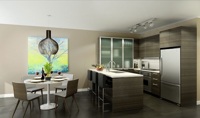 Contemporary high-end finishes grace every Deep Cove North Van Destiny Condo for sale at Raven Woods North Shore real estate development.
