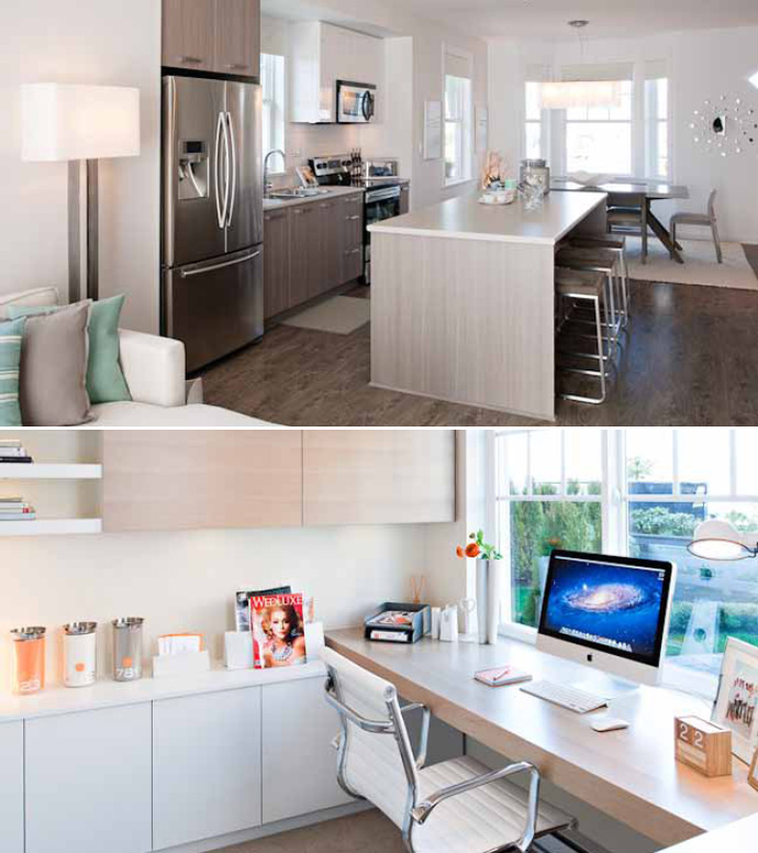 More interior renderings at the preconstruction Port Coquitlam DOMINION by MOSAIC Townhomes