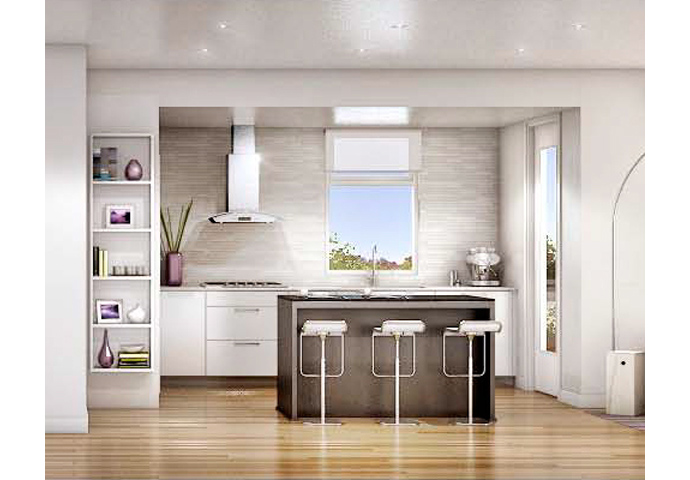 Spectacular and beautiful kitchens at the MOSAIC ELIZABETH Vancouver apartments for sale