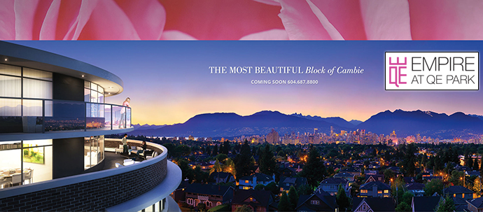 Westside Vancouver EMPIRE at QE Park condos and townhomes for sale.
