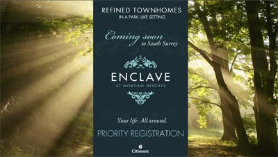 Morgan Heights in South Surrey presents Enclave single family homes, a collection of fine luxurious townhomes built for families in mind.
