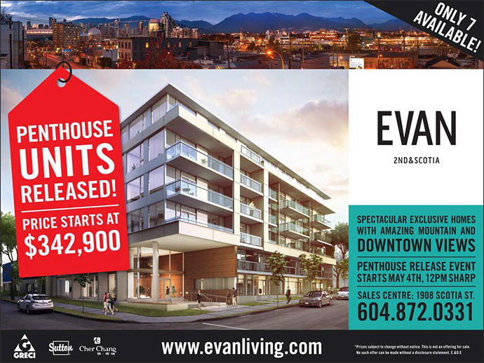 Vancouver EVAN Penthouse release