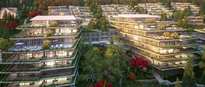 The luxury West Van Homes at Evelyn are now previewing.