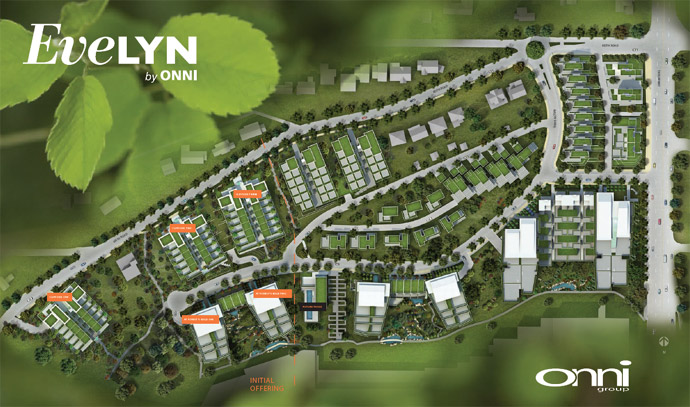The Evelyn West Vancouver luxury home site plan as imagined originally by The Millennium Development team.