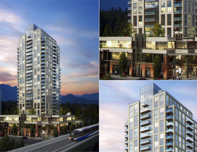 Great architecture at the new BOSA Evergreen Coquitlam condo tower