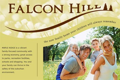 The pre-construction Maple Ridge Homes at Falcon Hill single family detached homes community present affordable pricing and great value for spacious houses for sale.