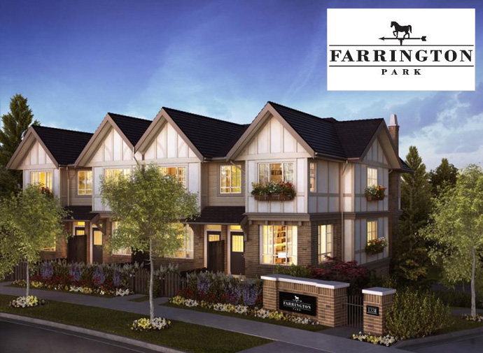 The Foothills of Burke Mountain Coquitlam Farrington Park Townhomes by Polygon Homes.