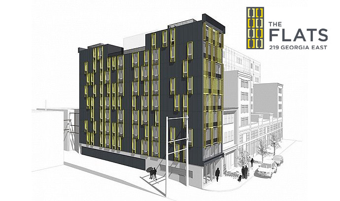 Original rendering of the Vancouver Chinatown Flats.