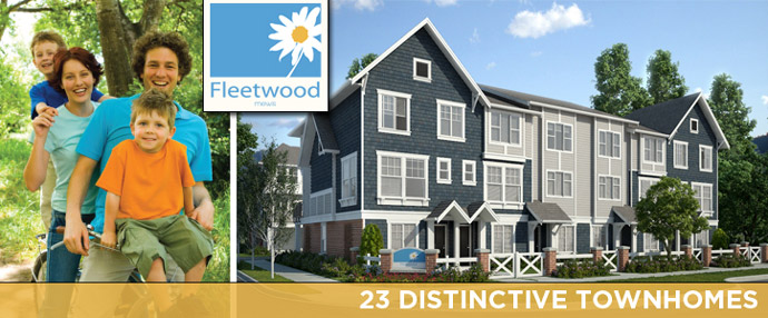 Fleetwood Mews Surrey townhouse community now selling