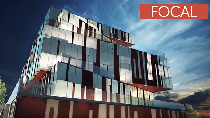 Stunning architecture at FOCAL on Main apartments in East Vancouver real estate market.