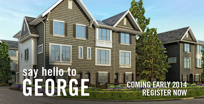 Preconstruction South Surrey GEORGE Townhomes for sale.