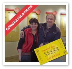 The first LUCKY winners of Ginger Condos promotion for lucky money towards the closing of these condominium homes in Chinatown Vancouver.