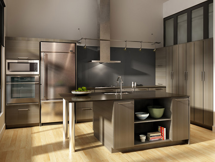 Five star kitchens at the Glasshouse New West lofts for sale.