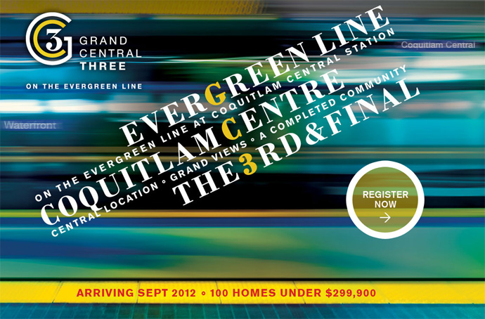 Register now for the best suites available at the Grand Central Intergulf Coquitlam Evergreen Line condo project.