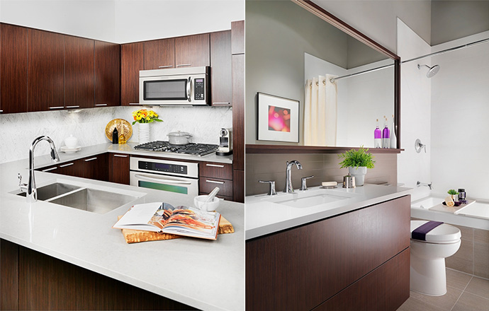 Grand Central Coquitlam Phase 3 apartment interior finishes.