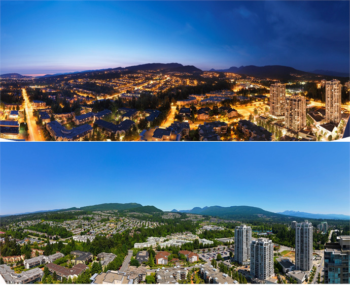 Amazing Views from the new Coquitlam Grand Central Three tower condominiums.