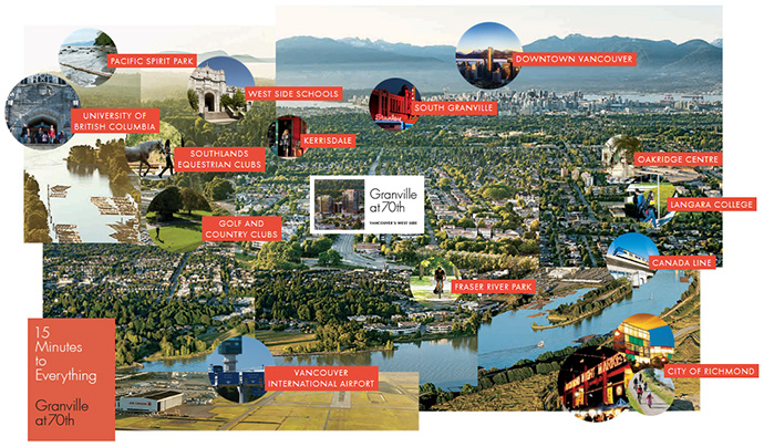 The Vancouver Granville at 70th Cornish Estates homes are located in the South Vancouver real estate district near Southlands.