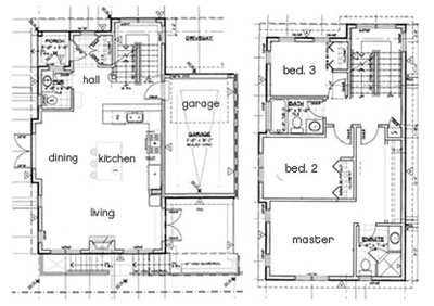 Functional and spacious floorplans at these triplex townhouses at GreenView on West 17th North Vancouver Built GREEN homes for sale provide four levels and 2700 sq ft of interior space plus more than 500 sq ft of entertainment outdoor space.