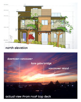 Environmentally friendly LEED Gold Certified Vancouver homes for sale at the GreenView boutique North Vancouver townhomes are Built GREEN and feature geothermal heating and cooling as well as a spectacular rooftop deck lounge.