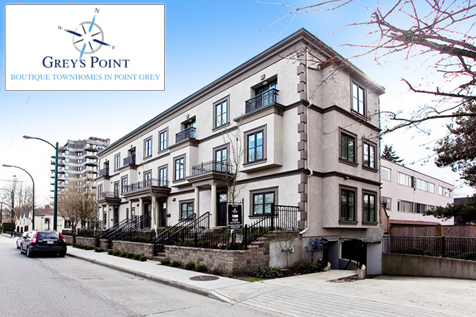 West Side Vancouver Grey's Point Townhomes for Sale.