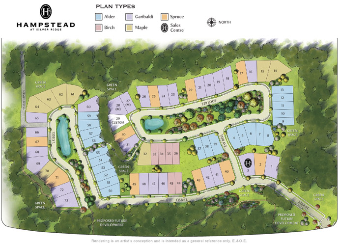 Silver Ridge Hampstead site plan.
