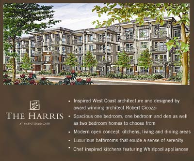 The Harris and Brentwood Gate Burnaby Presales Condos designed by Robert Cicozzi - grand opening pre-construction sales
