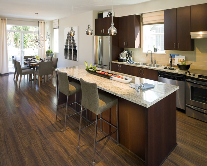 Polygon designed dining rooms at the preconstruction Abbotsford Hartwell at Westerleigh townhouses