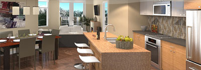 New South Surrey condos for sale at Headwaters property development is part of a master planned lifestyle community.
