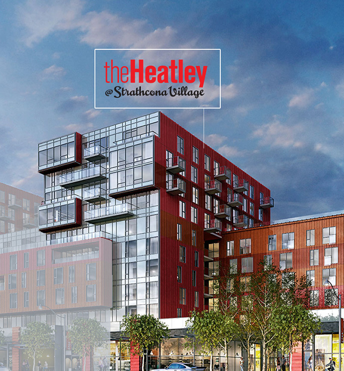The Heatley at Strathcona Village Vancouver - a new affordable condo project by Wall Financial Group.