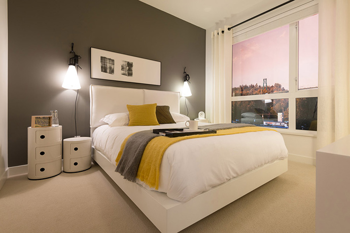 Spacious bedrooms at Heywood Living.