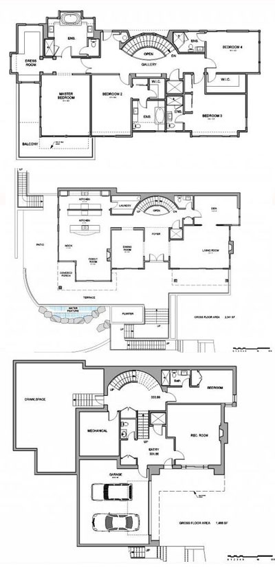 A sample floor plan at the West Vancouver Highgrove homes and townhome development in the Whitby Estates neighbourhood.