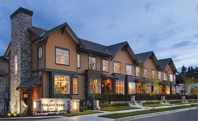 Presales Burnaby Highland Park Metrotown Townhomes by Bogner Development Group.