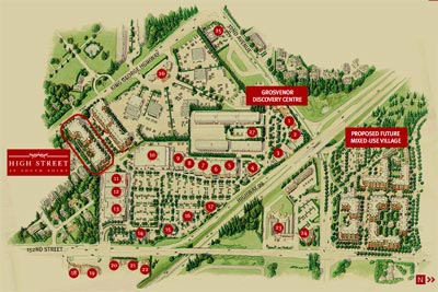 Location of the South Point High Street Townhomes and Condominiums that are now 50% sold out!