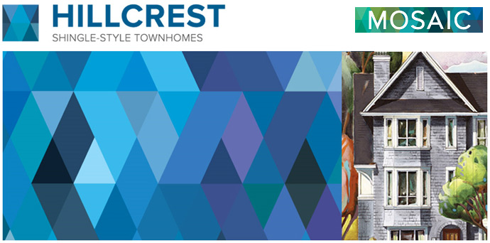 MOSAIC Homes presents the new HILLCREST Surrey Rowhomes and Duplex Homes for Sale in Clayton Neighbourhood.